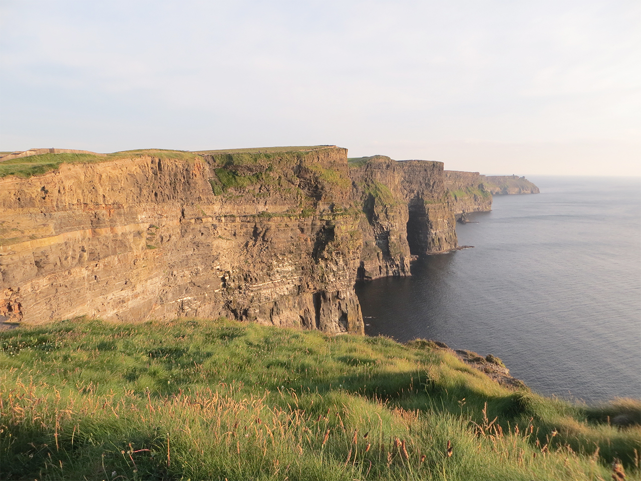 Cliffs of Moher on a calm evening near Doolin