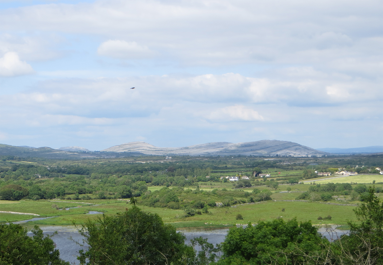 Corofin with Mullaghmore in the distance