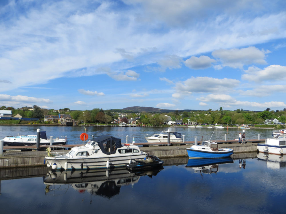 Lough Derg Jetty photo of boats ande blue and cloudy skies