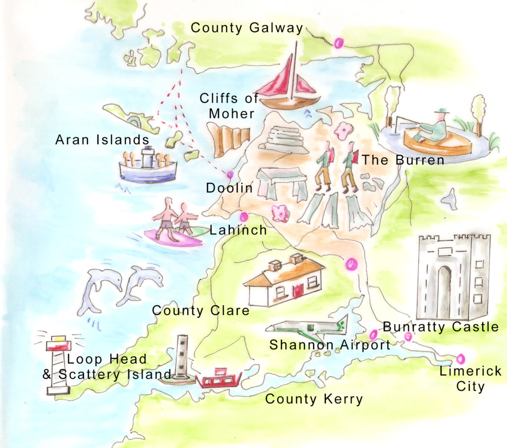 Map of Clare hand drawn