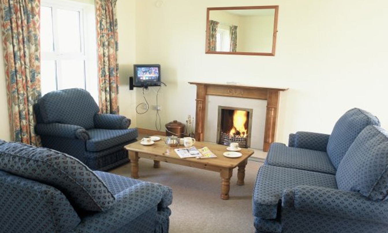 Ring of Kerry fireplace and living room