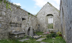 Inside Kilnaboy Church near Corofin