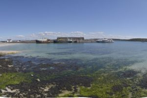 Doolin Pier and clear water with seaweed